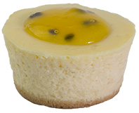 Baby Passionfruit Cheesecake  Individual  Bites Baby Cakes