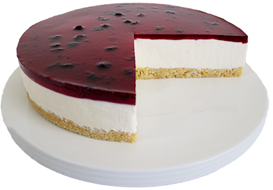 Coldset Blueberry Cheesecake  Large  Gateaux Coldset Cheesecakes