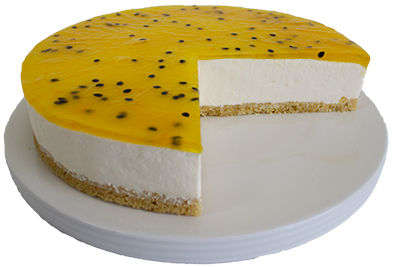 Coldset Passionfruit Cheesecake  Large  Gateaux Coldset Cheesecakes